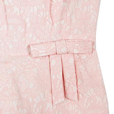 lace ribbon dress pink